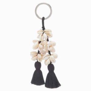 Ulla Johnson Palila Seashell Pom Pom Keychain RARE